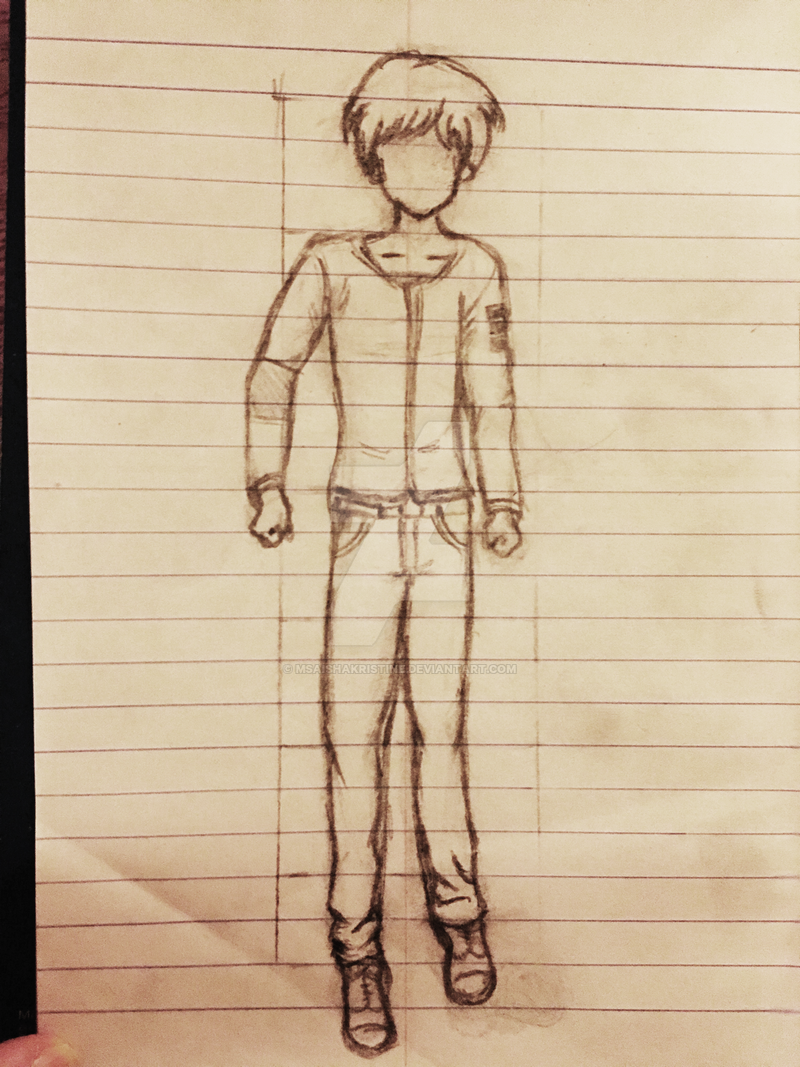 Anime Guy Sketch Drawing (for OC with clothes) by ...