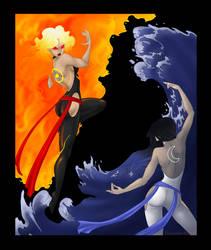 Sun and Moon, Fire and Water by shinga