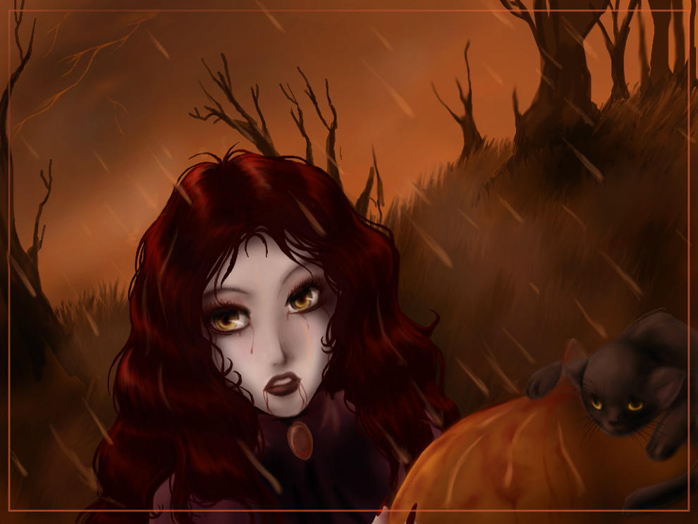 Hallow's Eve Rain by shinga