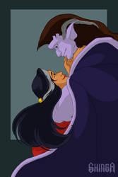Gargoyles 2014 - Goliath and Elisa by shinga