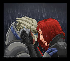 Garrus and Shepard by shinga