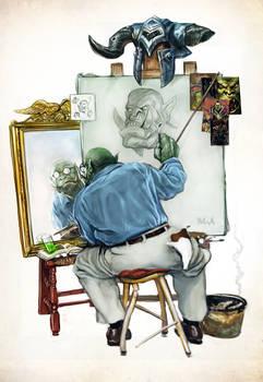 Orc Triple Self-Portrait