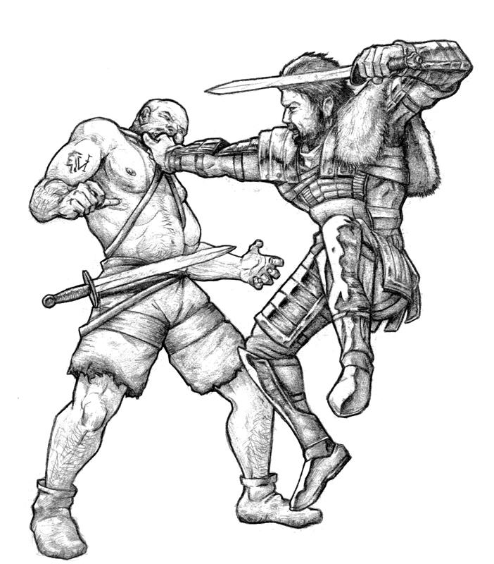 Roman Gladiator Armor Drawing Gladiator in general's armor