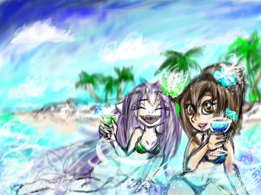 Beach Girls Betty and Gemi by Gemini-Mystica