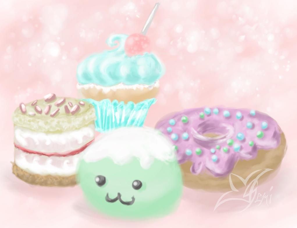 Cute Sweets by Gemini-Mystica