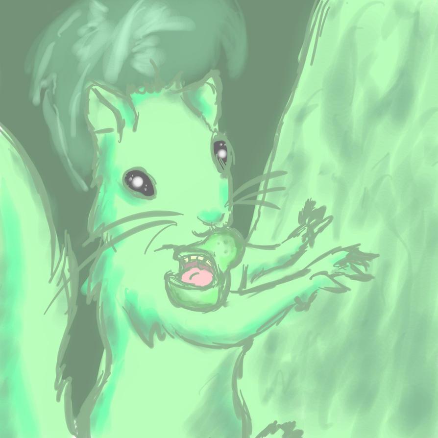 Pear and Squirrel by Gemini-Mystica