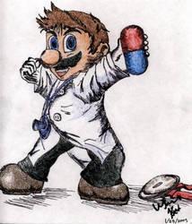 Dr. Mario fanart by Gemini-Mystica