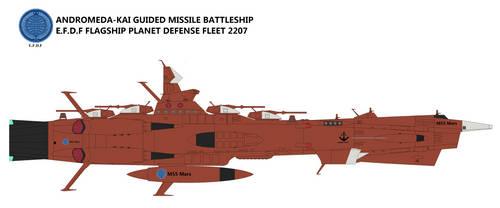 Andromeda-Kai class Guided missile Battleship by TeitokuTachibana