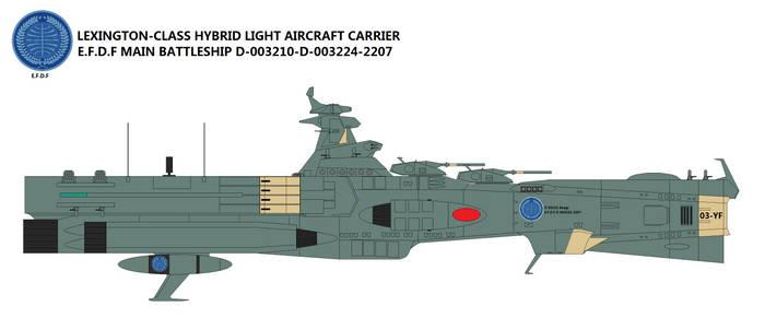 Lexington-class Hybrid Light Aircraft Carrier by TeitokuTachibana