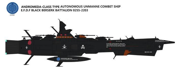 Andromeda Type Autonomous unmanned combat ship by TeitokuTachibana