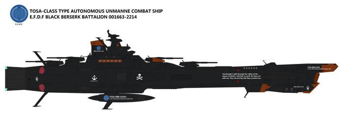 Tosa-class Type Autonomous unmanned combat ship by TeitokuTachibana