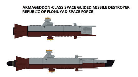 Armageddon-class Space Guided Missile Destroyer by TeitokuTachibana
