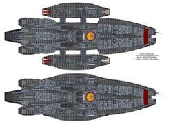 Triton class Battlestar by Barricade