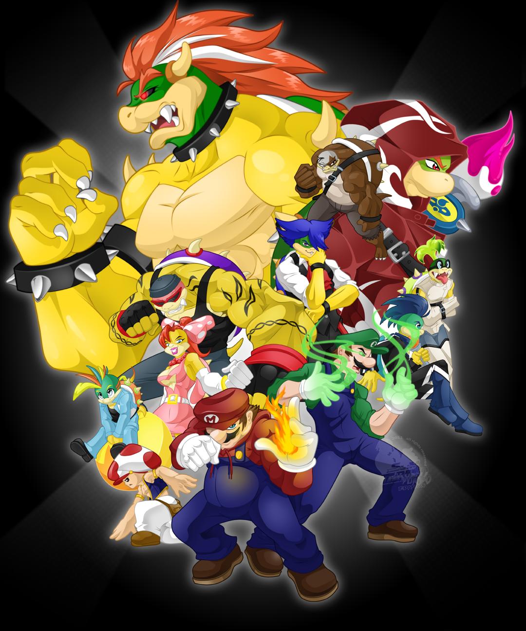 Super Mario Koopalings Coloring Pages