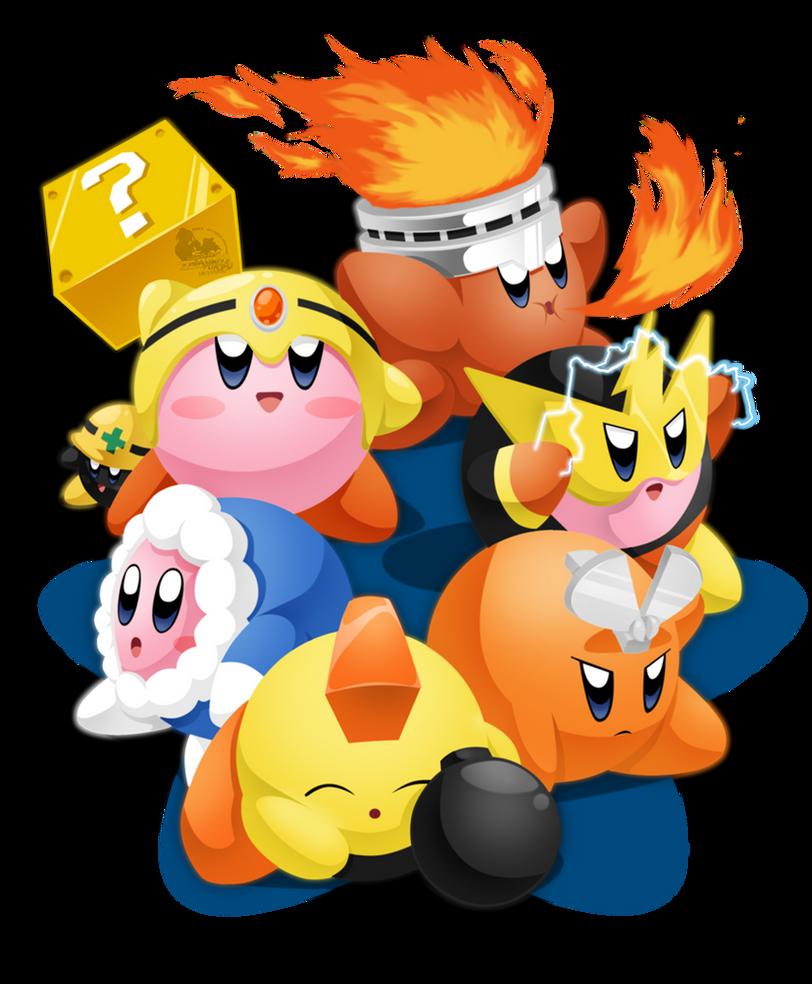 Mega Kirby's Foes by slimthrowed