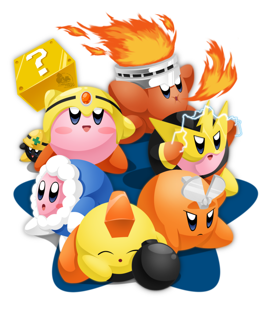 Mega Kirby's Foes by slimthrowed