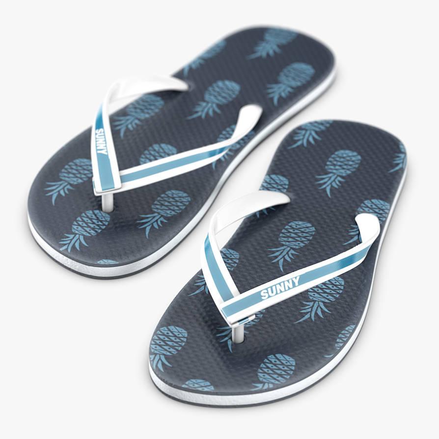Flipflop sandals 3D model by Scriblab