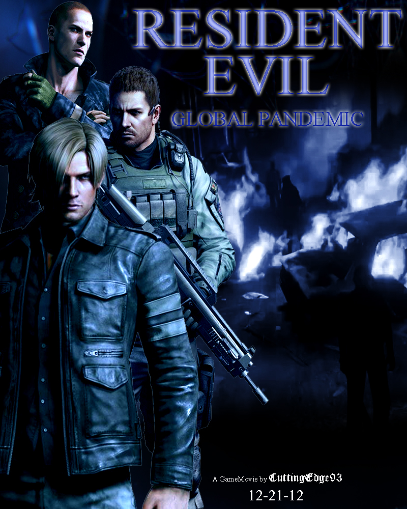 resident evil global pandemic game movie poster by