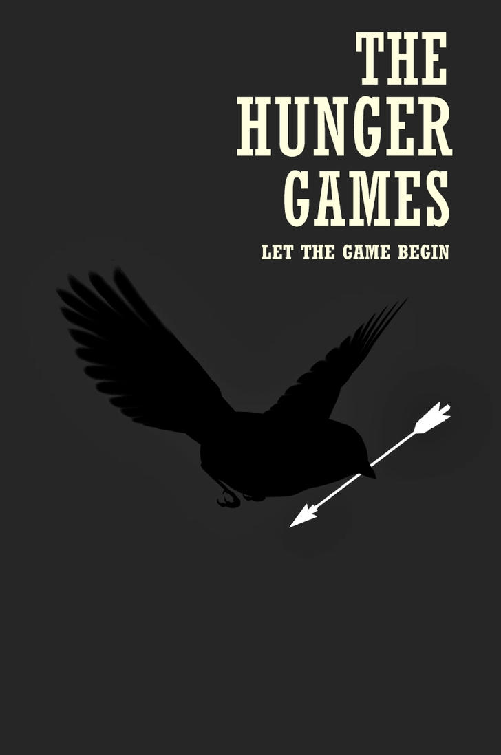 Black N White Book Cover : The hunger games minimalist poster ii by hurricaneoffire
