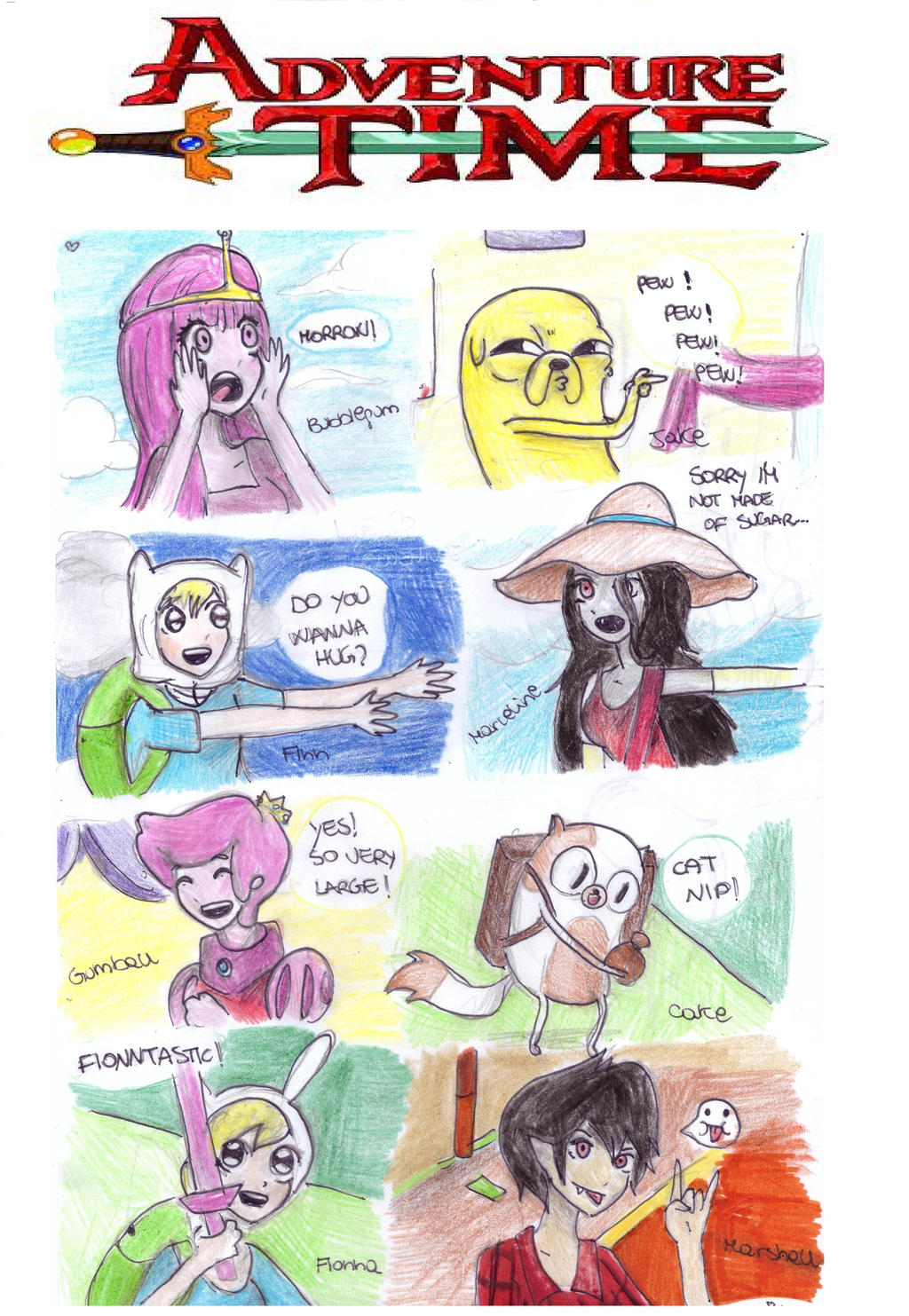 adventure time characters anime style by NENEBUBBLEELOVER ...