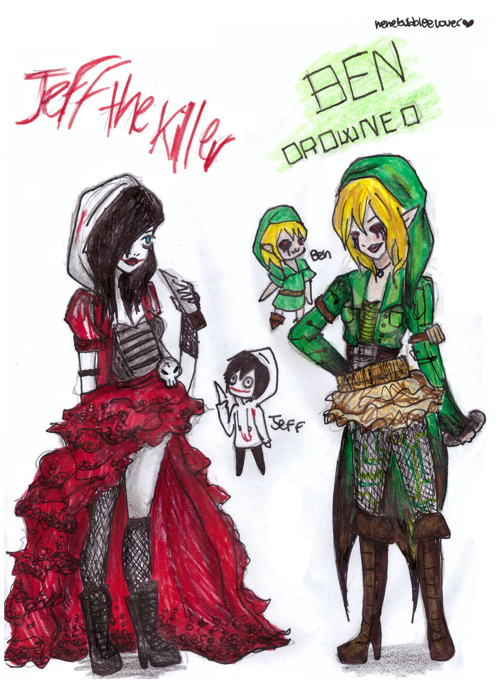 jeff and ben inspired outfits by nenebubbleelover on
