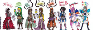 a lot of creepypasta inspired outfits