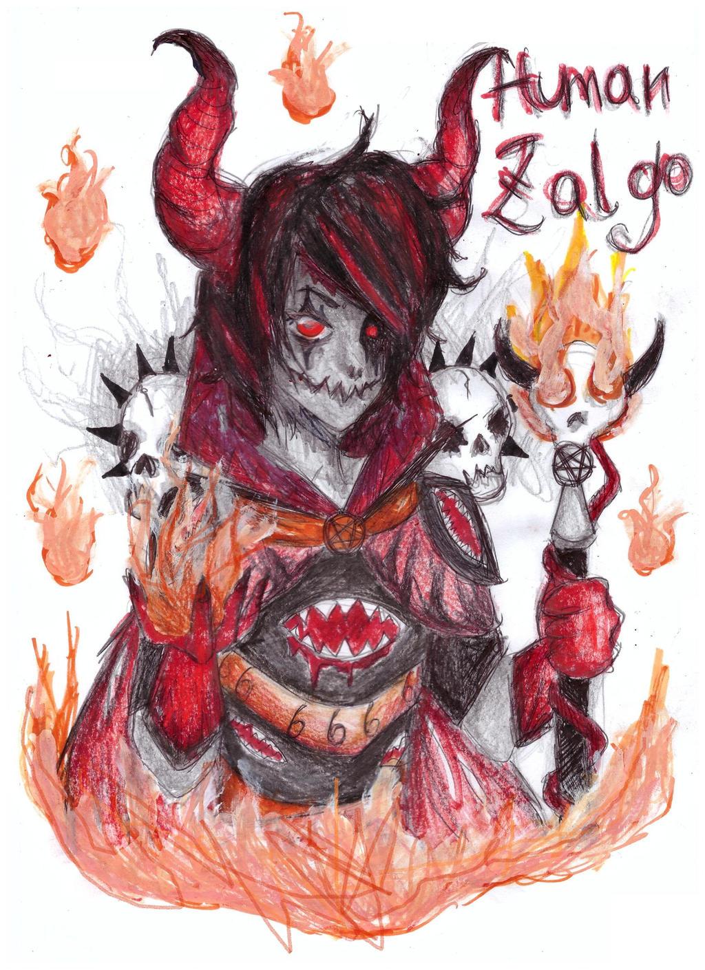 zalgo human form by NENEBUBBLEELOVER on DeviantArt