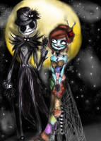 the nightmare before christmas by NENEBUBBLEELOVER