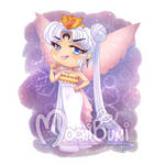 Commission - Evil Neo Queen Serenity Chibi by mochibuni