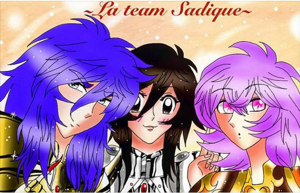 La team sadique! (Saint seiya love of goddess) by Asma-chan