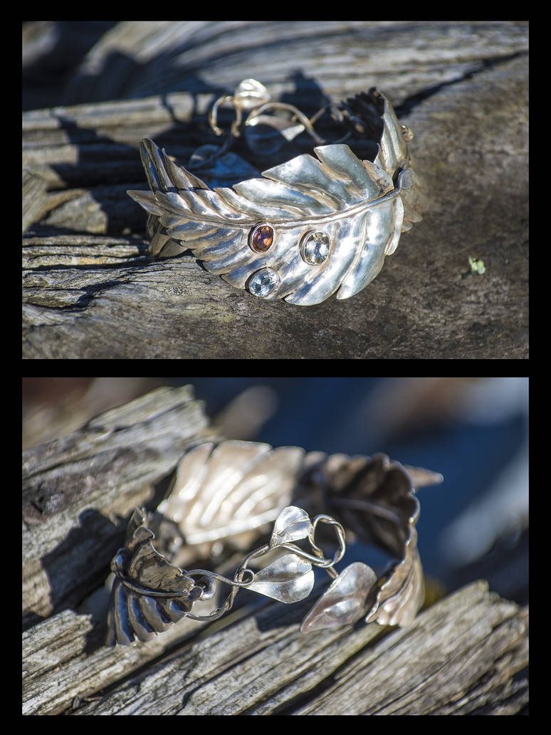 Forest bracelet WIP by copperrein