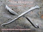 Hand-forged harpoon bottle opener and wax-cutter