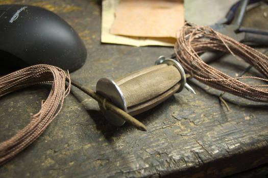 1771 Cavalry Sword handle-wrap progress
