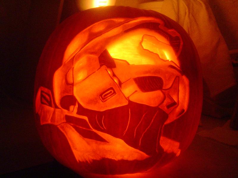 Halo pumpkin by cipher on deviantart