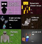 Super late Minecraft valentines day cards