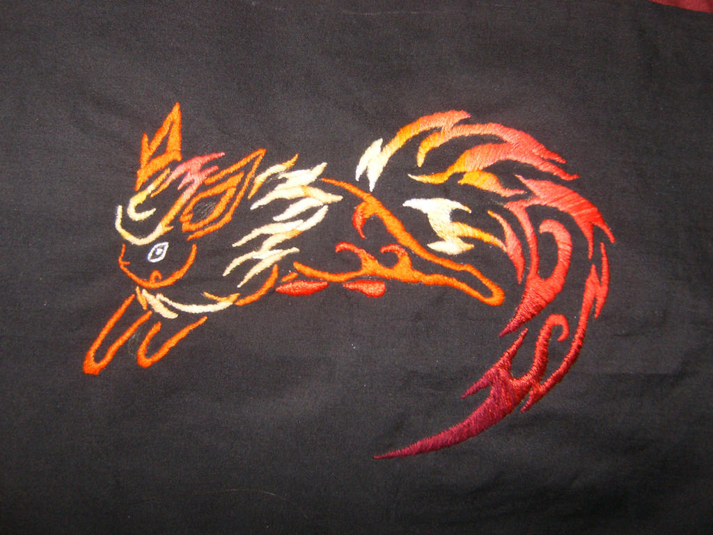 Embroidered Firy Flareon by nizati