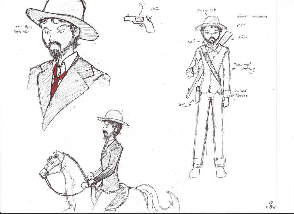cowboy sketch by sylphdeposey on deviantart