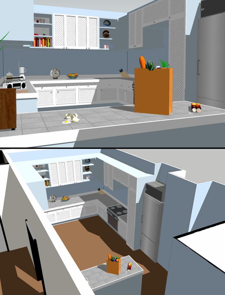 Dana\'s Kitchen by NessaSan on DeviantArt