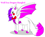 Mangled The Dragon WolfFox (Gift and Special RQ) by Mangled-Funtime-Fox