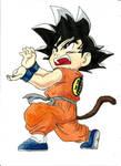 Goku - colored pencils drawing