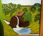 Watermill - acrylic on canvas