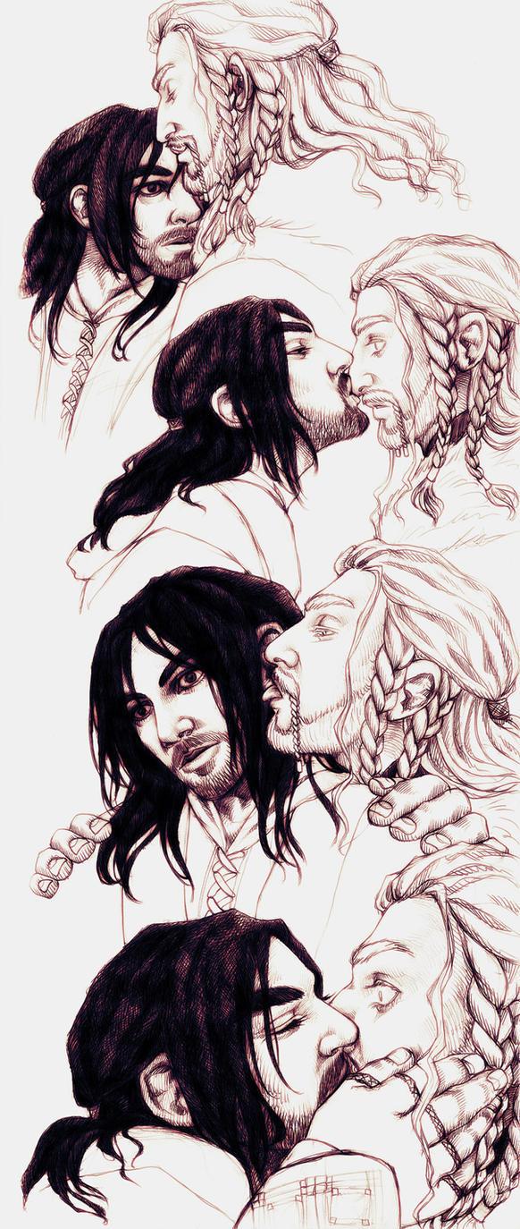 Fili and Kili kisses by IrbisN