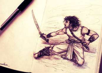 Magadheera_sketch by IrbisN