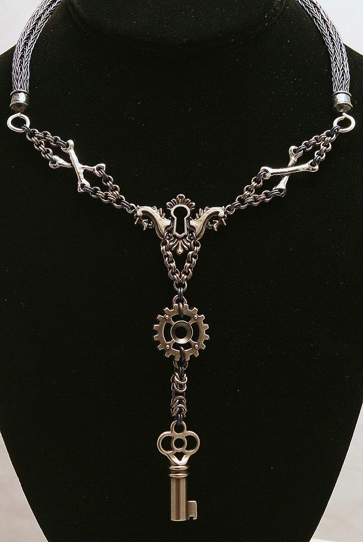 Keyed Steampunk Niobium Viking Knit Chainmaille by ArmouredWolf907