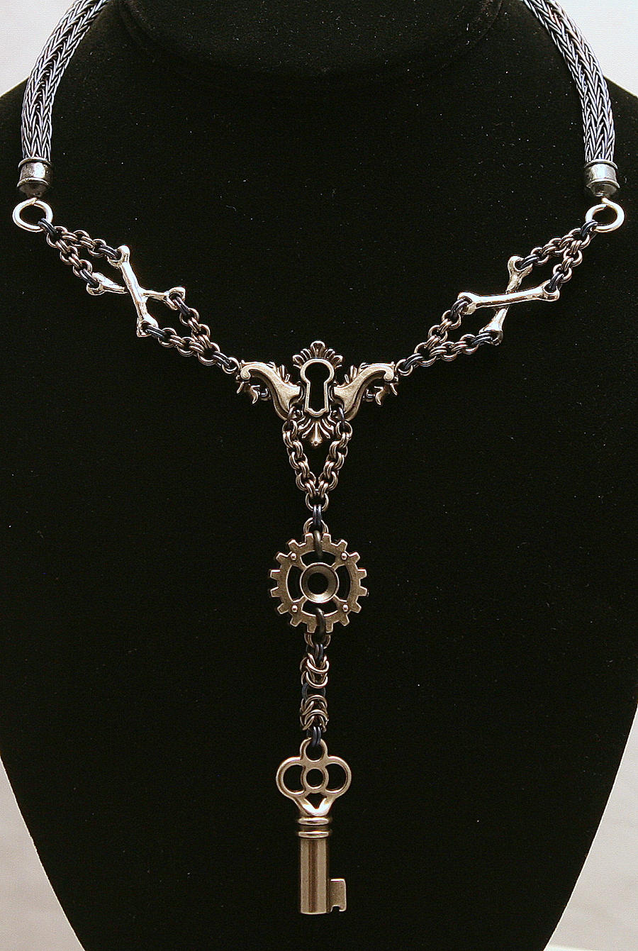 Keyed Steampunk Niobium Viking Knit Chainmaille by ArmouredWolf907