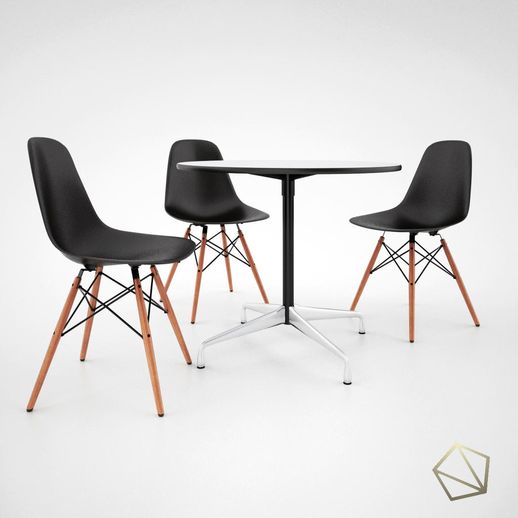 Vitra dsw chair and eames tables by duytoanvu on deviantart for Table eames dsw