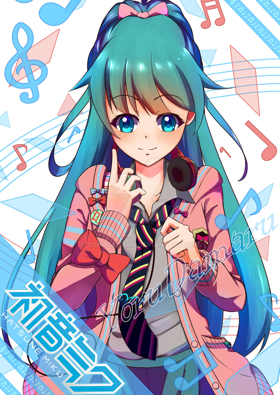 Hatsune miku magnet headphones