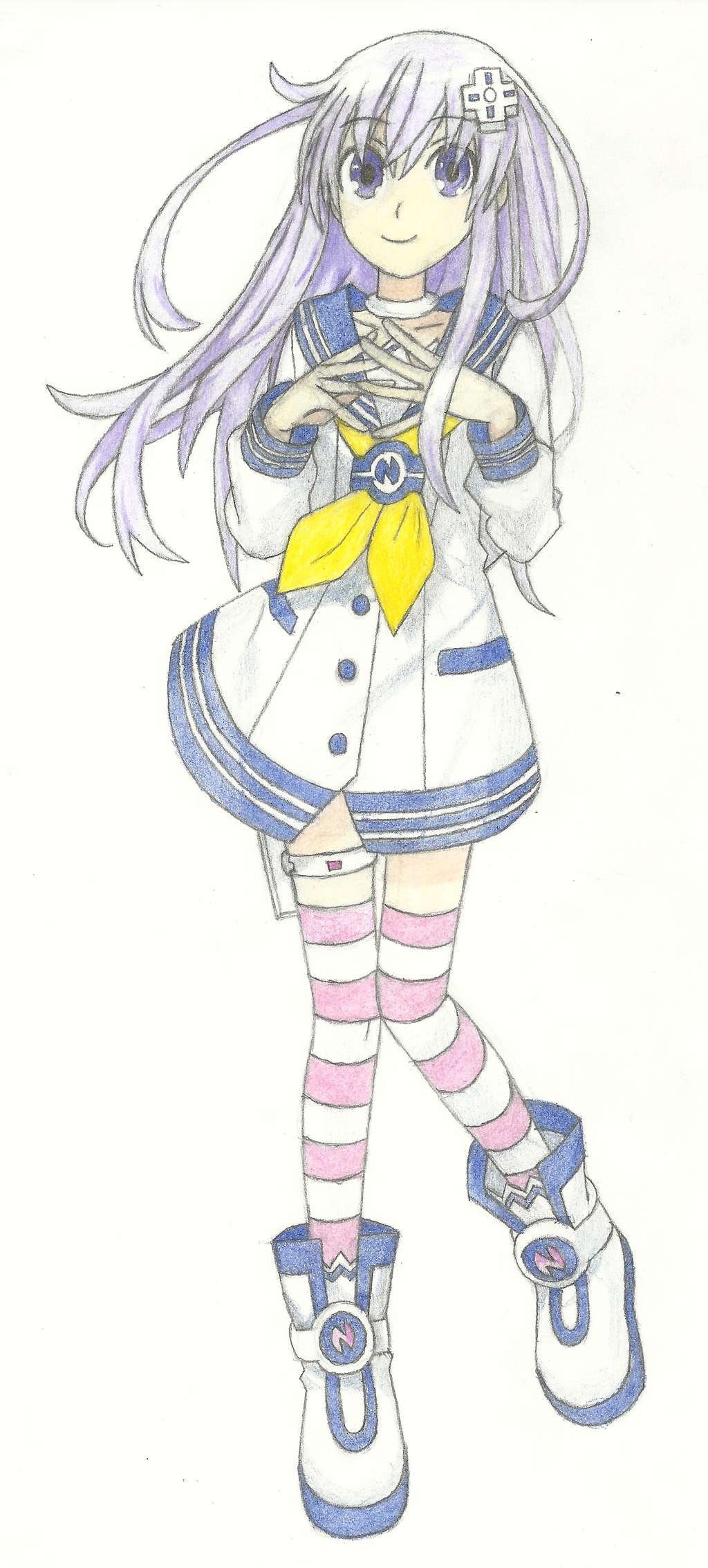 Nepgear (Free-hand) by Destructodoom