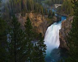 Yellowstone Waterfall by opticverve