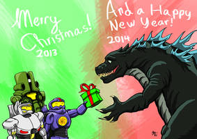 Merry Christmas Kaiju Fans... by A3DNazRigar